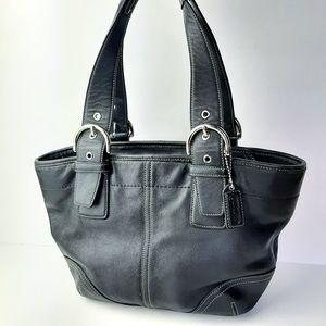 Coach Soho Satchel Tote Shoulder Bag Leather Black